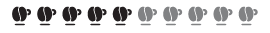 Kaffee Intensität 5/10