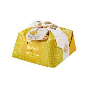Panettone con limone candito e cioccolato bianco